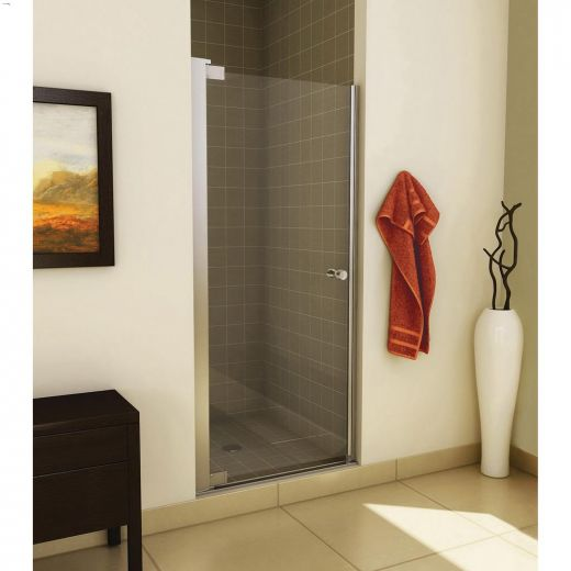 "31.5 - 33-1\/2\"" x 67\"" Chrome Clear 1-Panel Pivot Shower Door"
