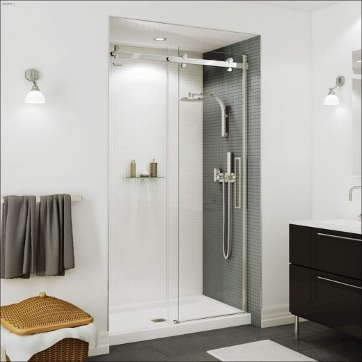 "44-1\/2 - 47\"" x 78-3\/4\"" Chrome Clear Sliding Shower Door"