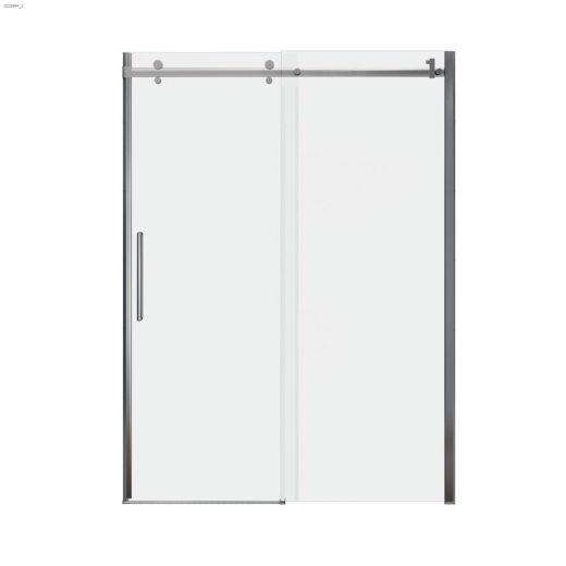 "56-1\/2 - 59\"" x 78-3\/4\"" Chrome Clear Sliding Shower Door"