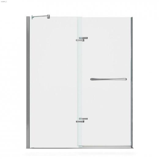 "56 - 59\"" x 71-1\/2\"" Chrome Clear 2-Panel Pivot Shower Door"