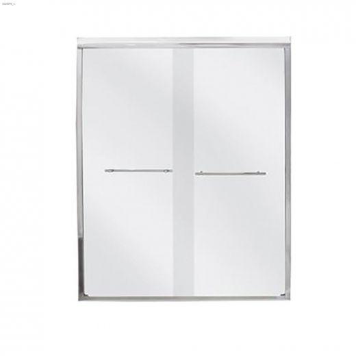 """47 - 48\"""" Silver Clear Bypass Shower Door"""