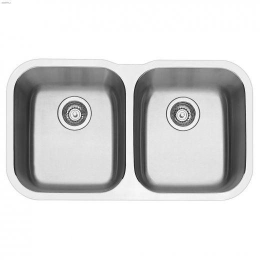 """Essential U 2 31\"""" x 17-3\/8\"""" Satin Brushed Kitchen Sink"""