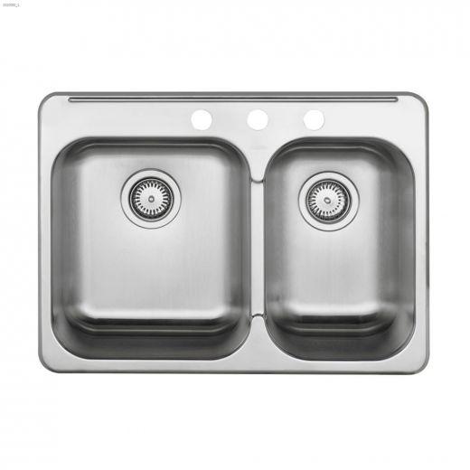 """Horizon 28\"""" x 20-1\/2\"""" Satin Brushed Kitchen Sink"""