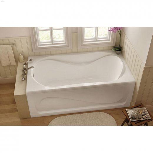 Cocoon\u00ae 6032 White End Rectangular Bath Tub
