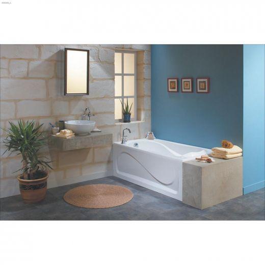 Cocoon\u00ae 6032 End White Microjet Bathtub