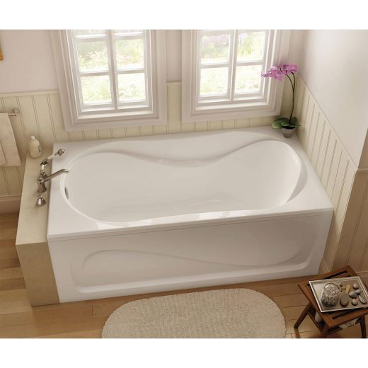 Cocoon 6636 White End Rectangular Bath Tub