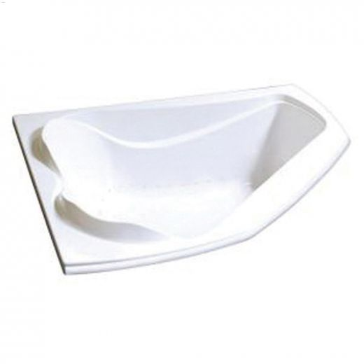 Cocoon\u00ae 6054 Off-Centre White Aerosens Corner Bathtub