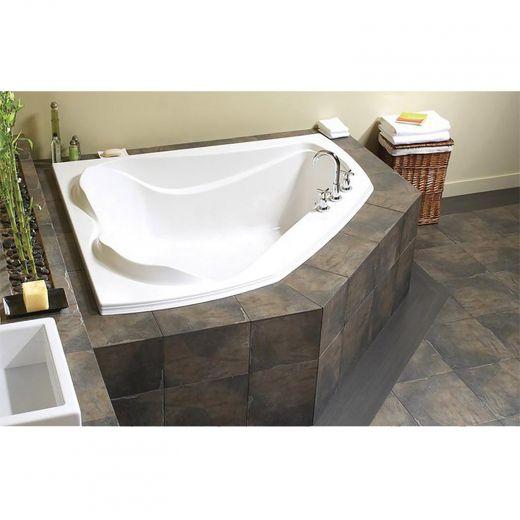 Cocoon 6054 White Off-Center Corner Bath Tub