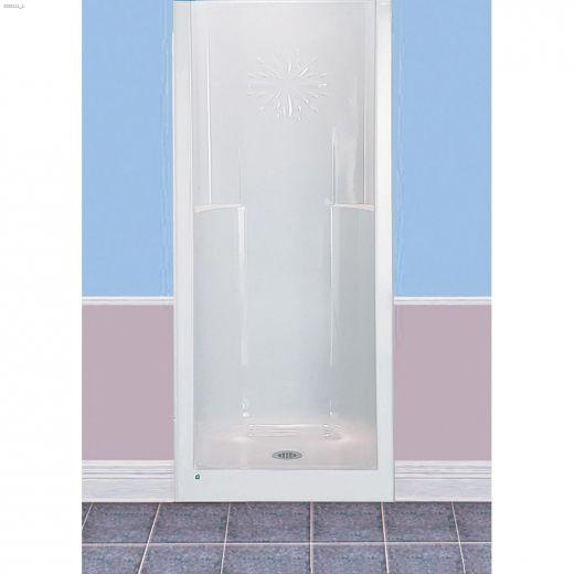 Jasmin White Fiberglass 1-Piece Shower Stall