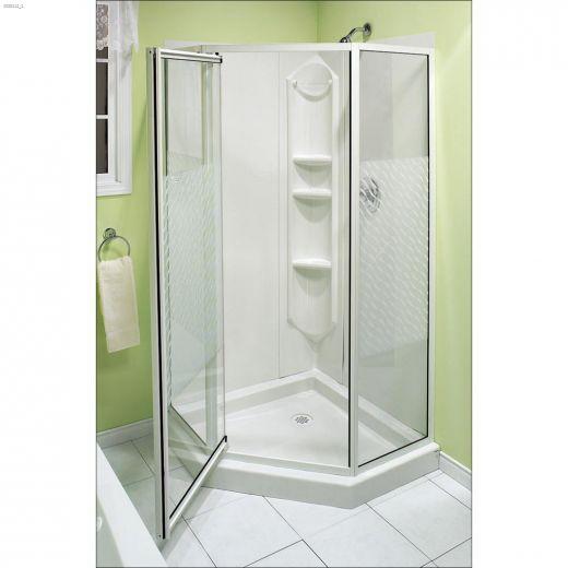 Himalaya White 3-Piece Shower