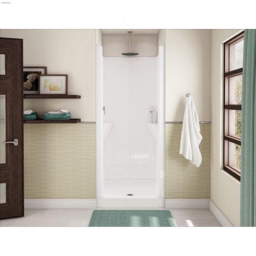 Jupiter White 1-Piece Shower Stall