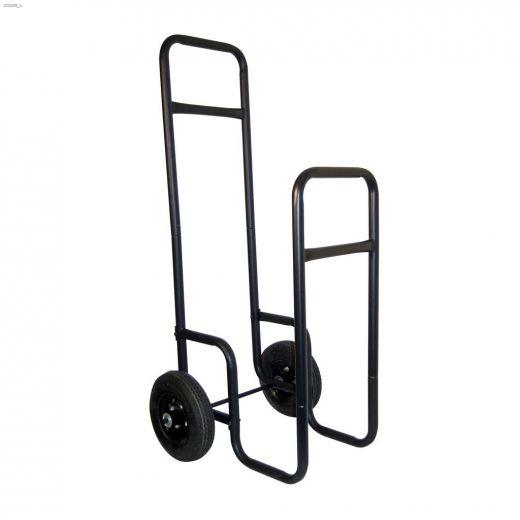 "19\"" x 20\"" x 42\"" Black Hand Log Cart"