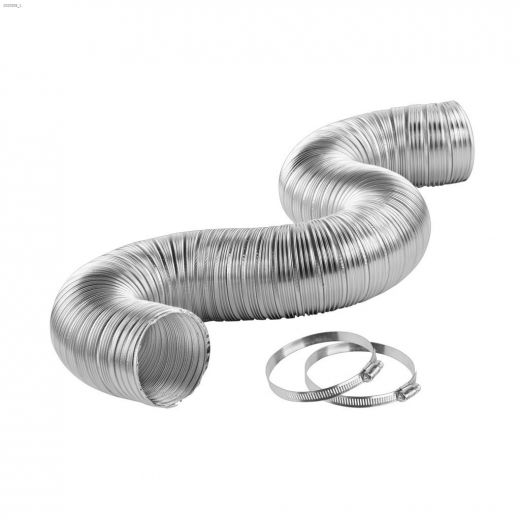 """4\"""" x 8' Semi-Rigid Hook-Up Kit With Clamp"""