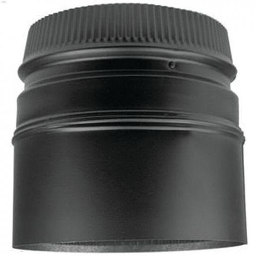"7\"" x 5-3\/4\"" Black Stove Adapter"