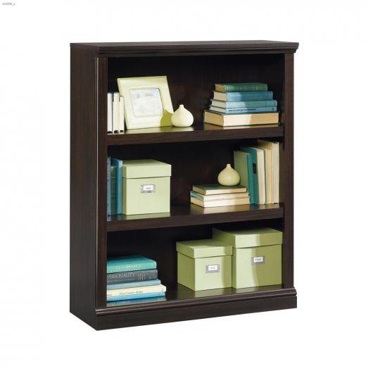 """Sauder Select 35-1\/4\"""" Jamocha Wood 3-Shelf Bookcase"""