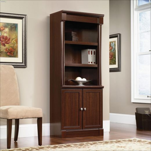 """Palladia 29-3\/8\"""" Select Cherry Library With Doors"""