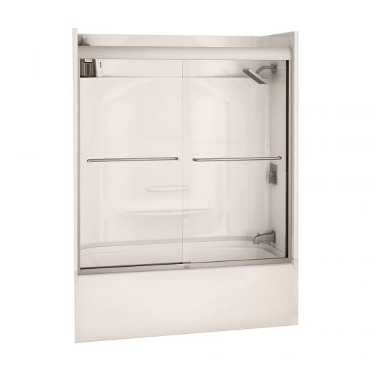 "55 - 59"" x 57"" Clear 2-Panel Sliding Tub Door"