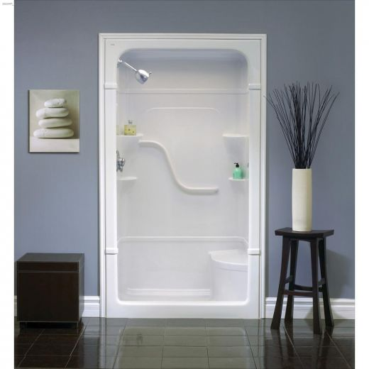 "50\"" x 33-1\/2\"" x 88\"" 1-Piece Shower Stall"