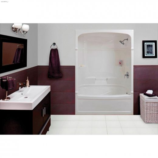 Empire White 3-Piece Right Hand Tub Shower