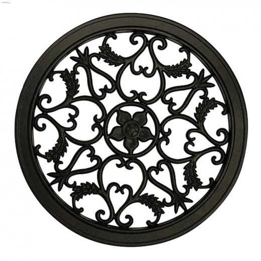 """15\"""" Black Cast Aluminum Round\u00a0Fence & Gate Insert"""