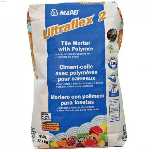 Ultraflex\u21222 22.7 kg Bag Grey Tile Mortar With Polymer