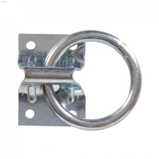 """2\"""" Zinc Plated Plate Hitching Ring"""