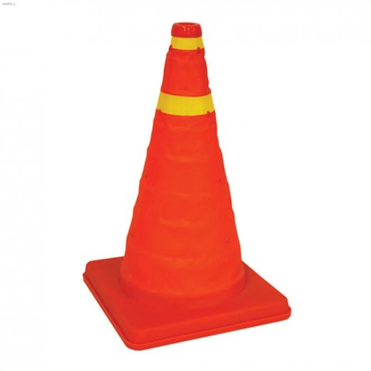 """16\"""" High Visibility Orange Collapsible Safety Cone"""