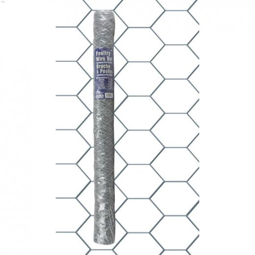 """2\"""" x 36\"""" x 50' Hot Dipped Galvanized Poultry Netting"""