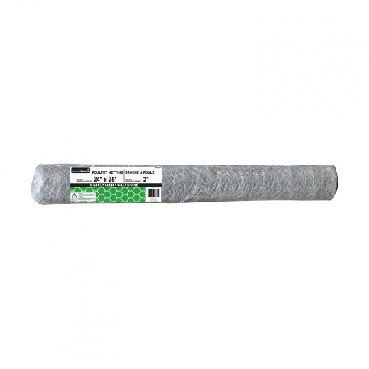 """2"""" x 24"""" x 50' Hot Dipped Galvanized Poultry Netting"""