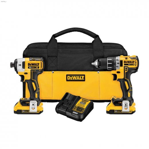 20V Yellow 2-Tool Combo Kit With 2 Batteries