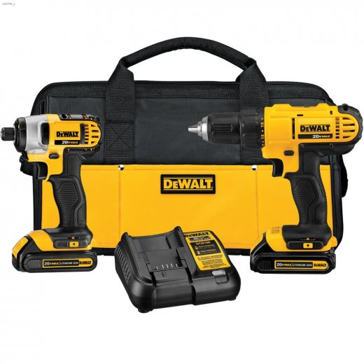 """20V 1\"""" 2-Tool Combo Kit With 2 Batteries"""