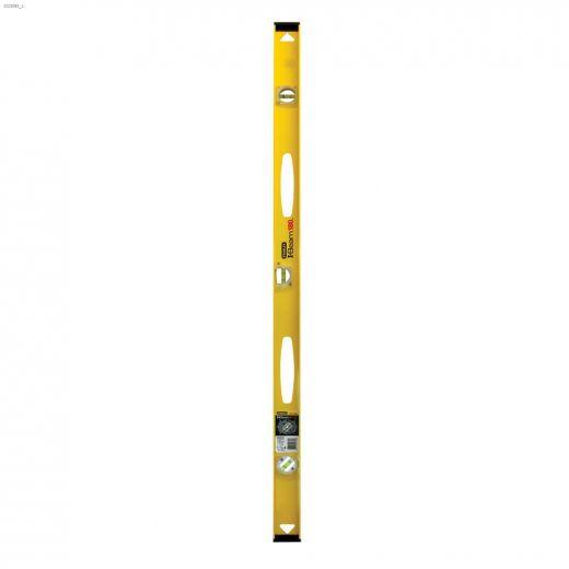 "180\u2122 48\"" Yellow\/Black 3 Vial I-Beam Level"