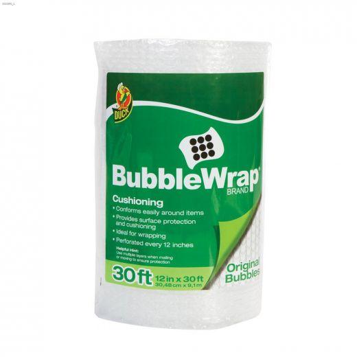 """12\"""" x 30' Clear Original Bubble Wrap"""