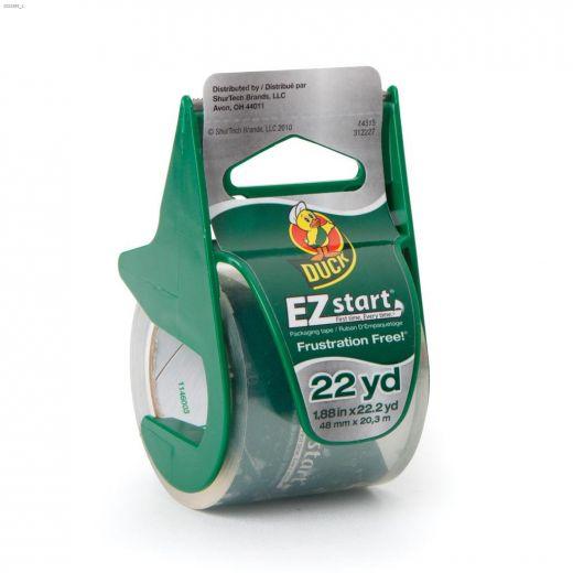 "1.88\"" x 22.2 yd Clear EZ Start\u00ae Packaging Tape"