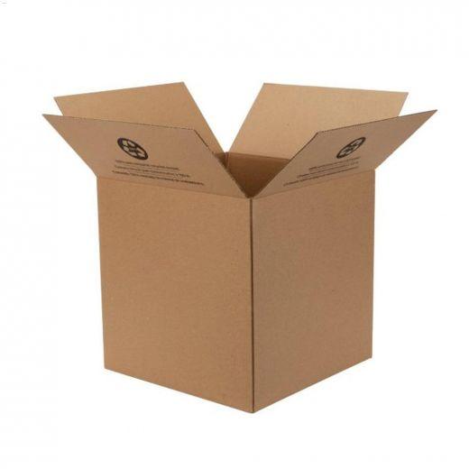 """14\"""" x 14\"""" x 14\"""" Kraft Brown Small Folded Box"""