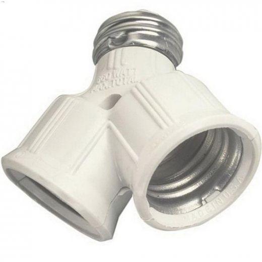 White Lampholder Socket Adapter 125V