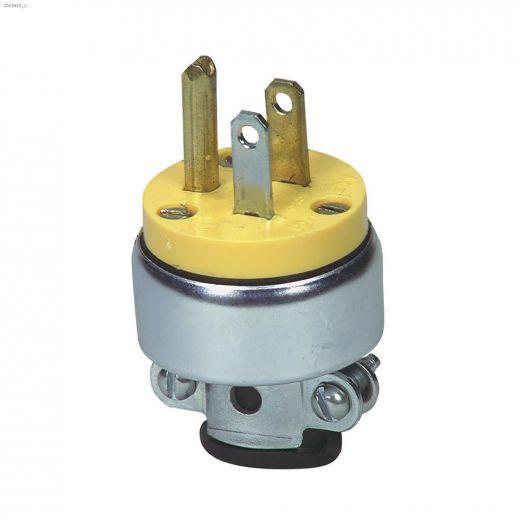 Yellow Armoured Plug 15A 125V 2P\/3W