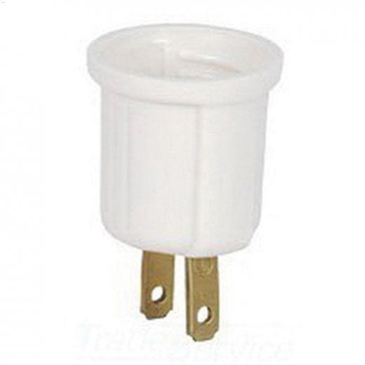 White Socket Adapter 125V