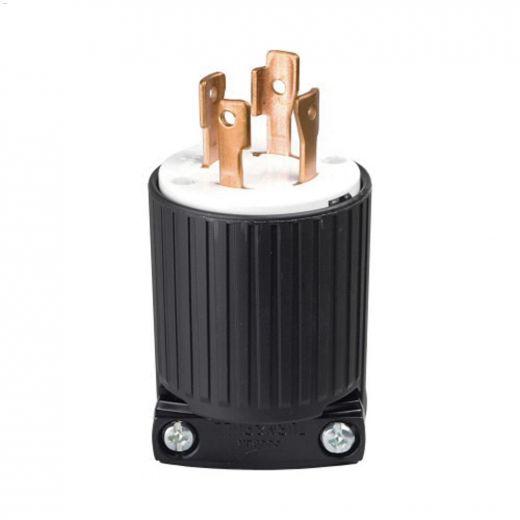 Black\/White Locking Plug 30A 125\/250V 3P\/4W