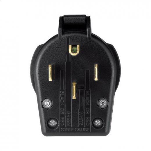 Black Universal Angled Plug 30-50A 125\/250V 3P\/4W