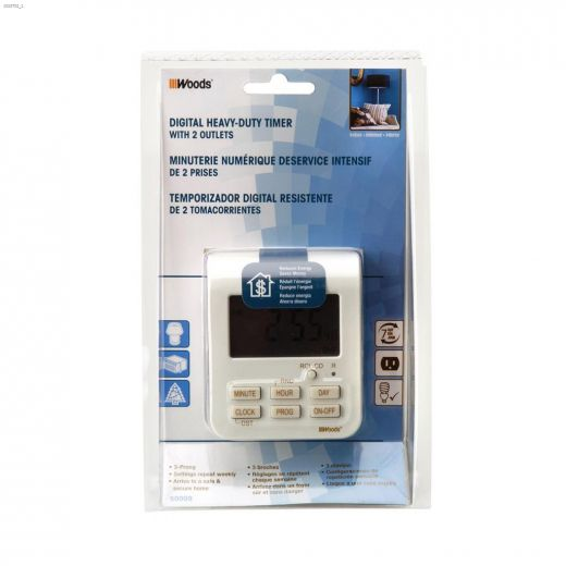 Indoor 7 Day White With Taupe Silkscreen Digital Timer 3C