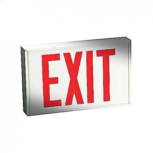 Emergi-Lite\u00ae 1.5 Watt Wall\/Ceiling Metal White LED Exit Sign