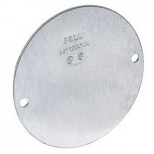 """4\"""" x 1\/16\"""" Grey Round Blank Cover"""