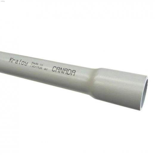 "Kraloy\u00ae 1-1\/2"" x 10' PVC Rigid Electrical Conduit"