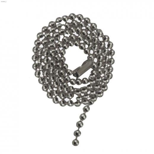 "36\"" Satin Nickel Beaded Pull Chain"