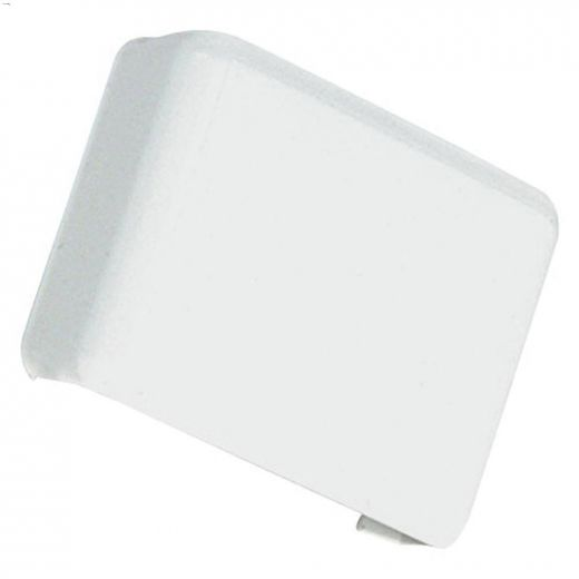 White Flat End Wire Cover