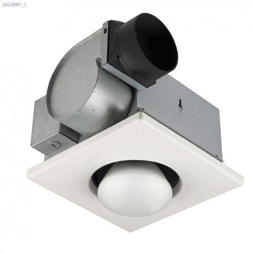 70 CFM 4.0 Sones One Bulb Heater\/Fan