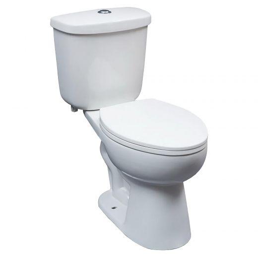 Washington White 1.06/1.6 gpf Elongated Front 2-Piece Toilet