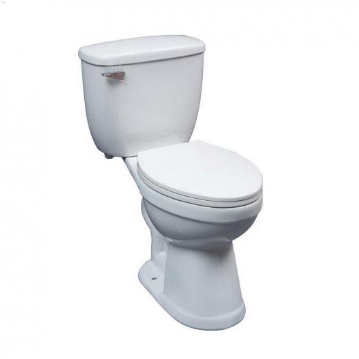 Denver White 1.6 gpf Elongated Front 2-Piece Toilet