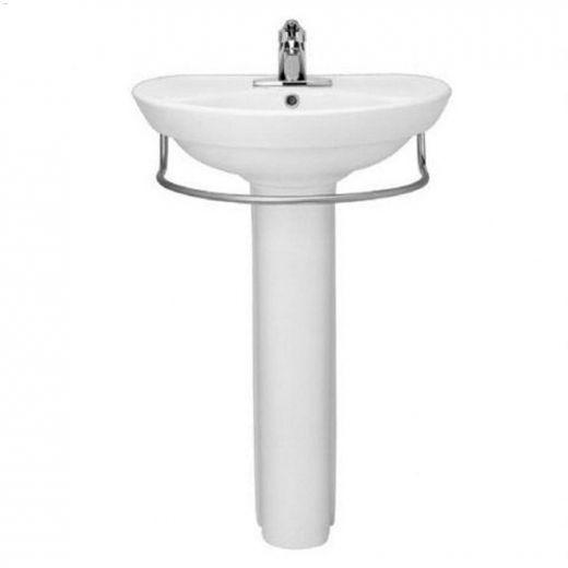 Vitreous china White Ravenna Pedestal Sink Leg